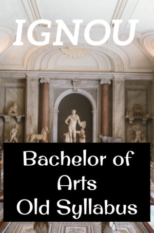 Bachelor of Arts Books Old Syllabus
