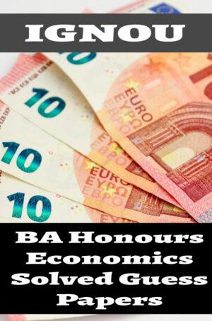 BA Honours Economics Solved Guess Papers (BAECH)