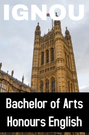 Bachelor of Arts Honours English Books (BAEGH)