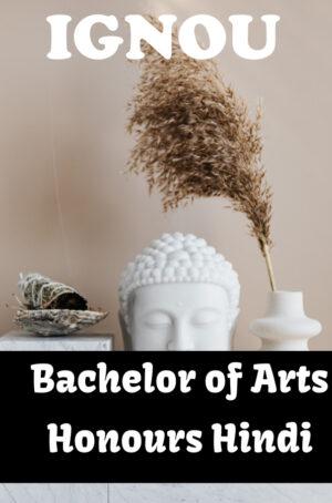 Bachelor of Arts Honours Hindi Books (BAHDH)