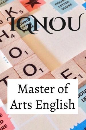 Master of Arts English Books (MEG)
