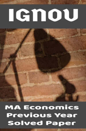 MA Economics Previous Year Solved Paper (MEC)
