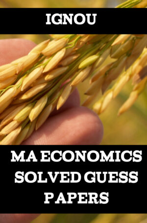 MA Economics Solved Guess Papers (MEC)
