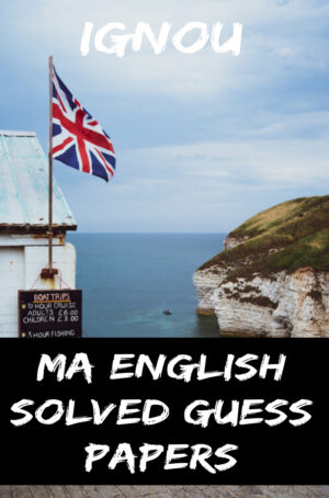 MA English Solved Guess Papers (MEG)