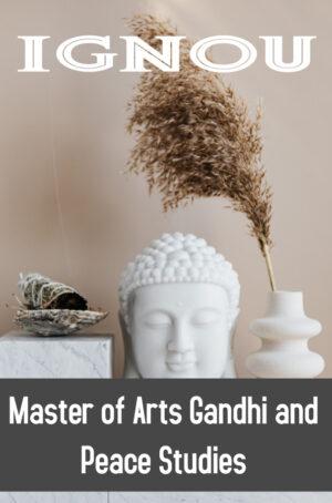 Master of Arts Gandhi and Peace Studies (MGPS)