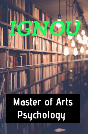 Master of Arts Psychology Books (MAPC)