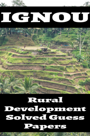 Rural Development Solved Guess Papers (MARD)