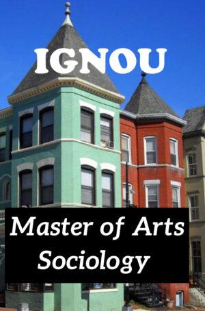 Master of Arts Sociology Books (MSO)