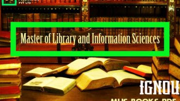 IGNOU MLIS Books Pdf Download Link – Master of Library and Information Sciences